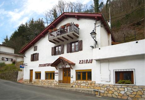 Le restaurant Xaindu à Arnéguy